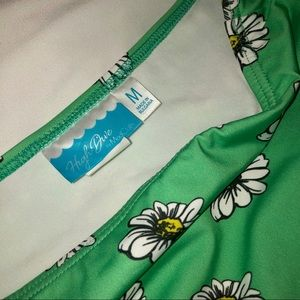 Modcloth Swim - Vacation Daisies Swimsuit in Mint - M